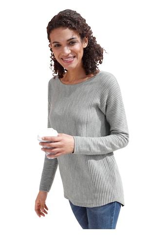 Casual Looks Pullover mit seitlichem Rippstrick kaufen