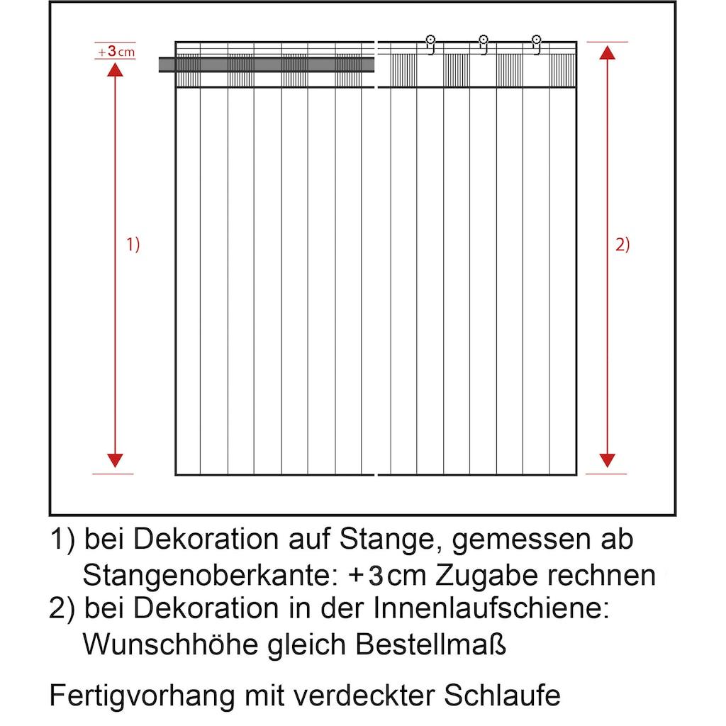 Neutex for you! Vorhang nach Maß »BRETAGNE«, Schal mit verdeckten Schlaufen