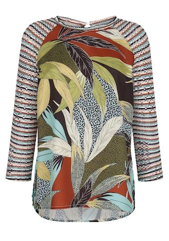 Alba Moda Blusenshirt, mit Ärmeln aus Lochjersey kaufen