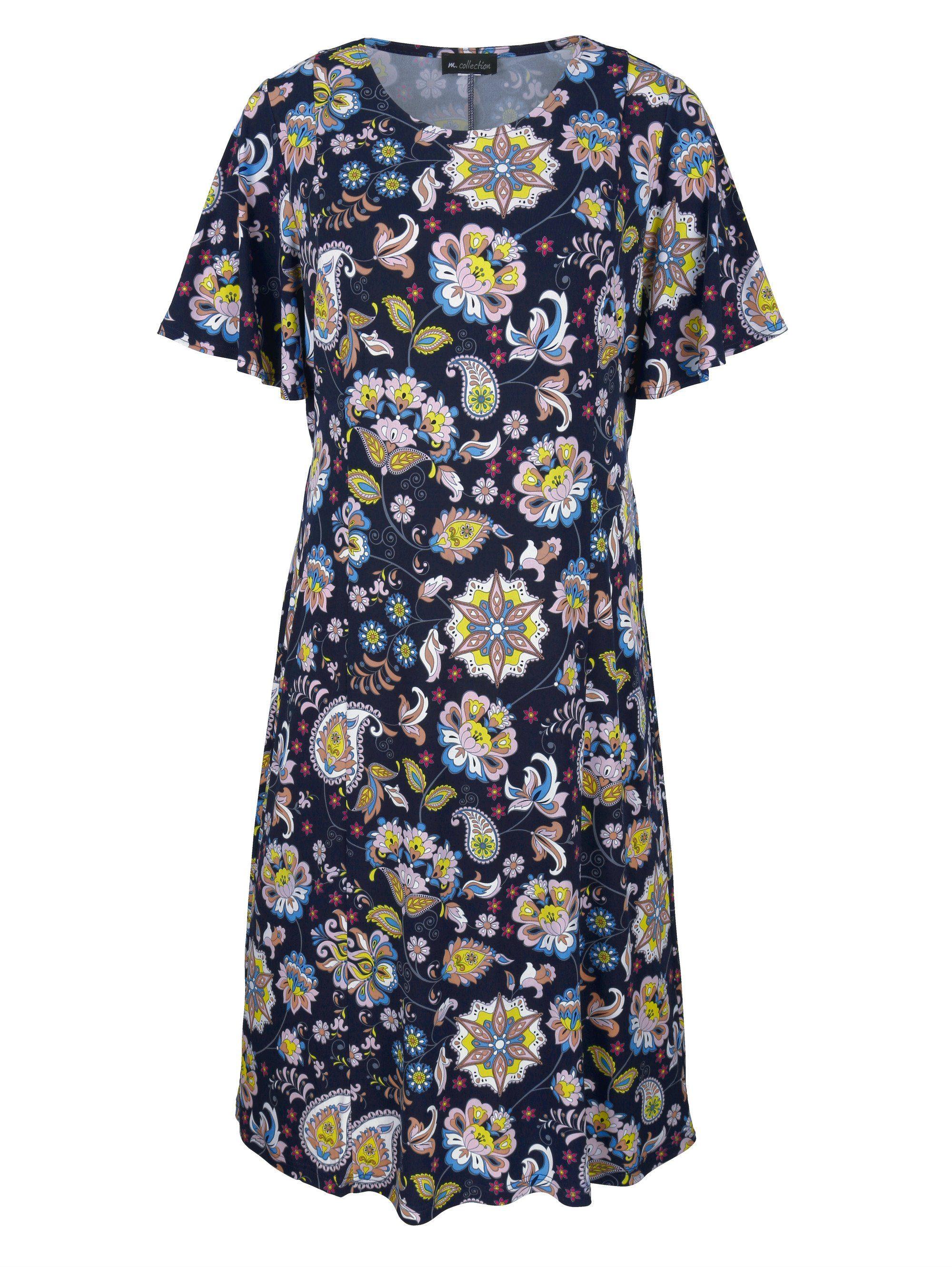 m collection Kleid rundum mit Blumendruckmuster