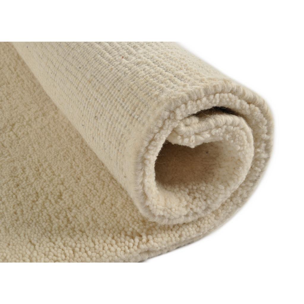 THEKO Wollteppich »Royal Dou 1«, rechteckig, 22 mm Höhe, reine Wolle, echter Berber, handgeknüpft, Wohnzimmer