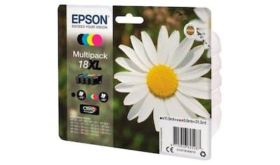 """Epson »C13T18164012 sw/c/m/y 4 St./Pack. """"18 """" XL« Tintenpatrone kaufen"""