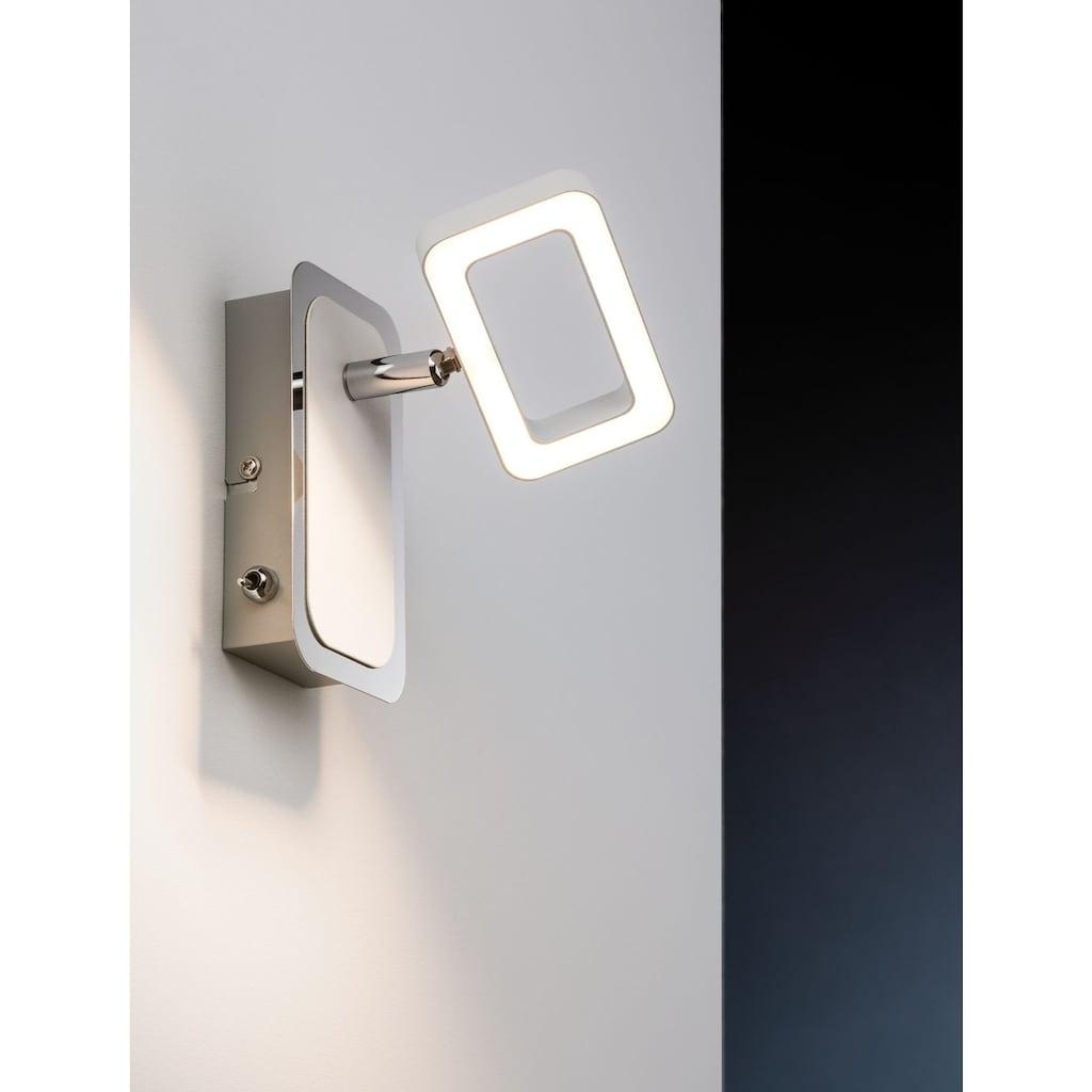 Paulmann LED Wandstrahler »Frame Weiß/Chrom 1-flammig inkl. Leuchtmittel 1x4,5W«, 1 St., Warmweiß