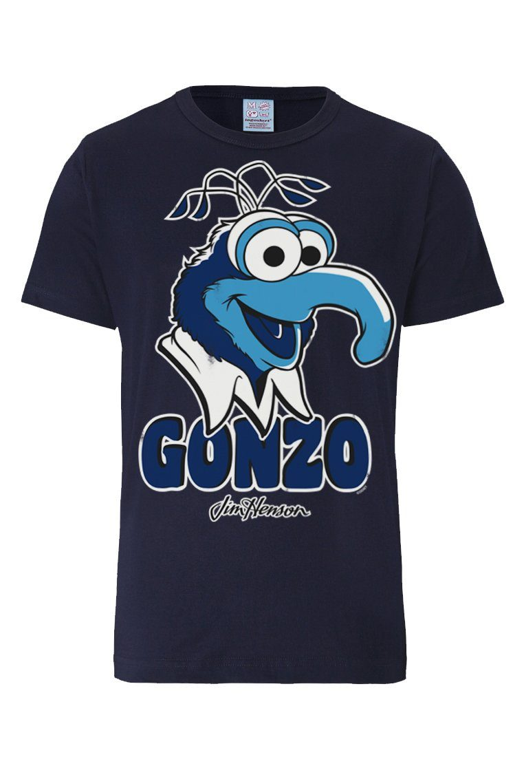LOGOSHIRT T-Shirt mit großem Gonzo-Print Gonzo - Muppet Show Preisvergleich