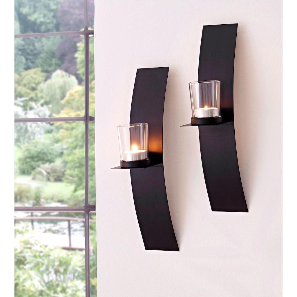 andas Wandkerzenhalter »Drammen«, Wandleuchter, Kerzenhalter, Kerzenleuchter, Wanddeko, mit Teelichthalter