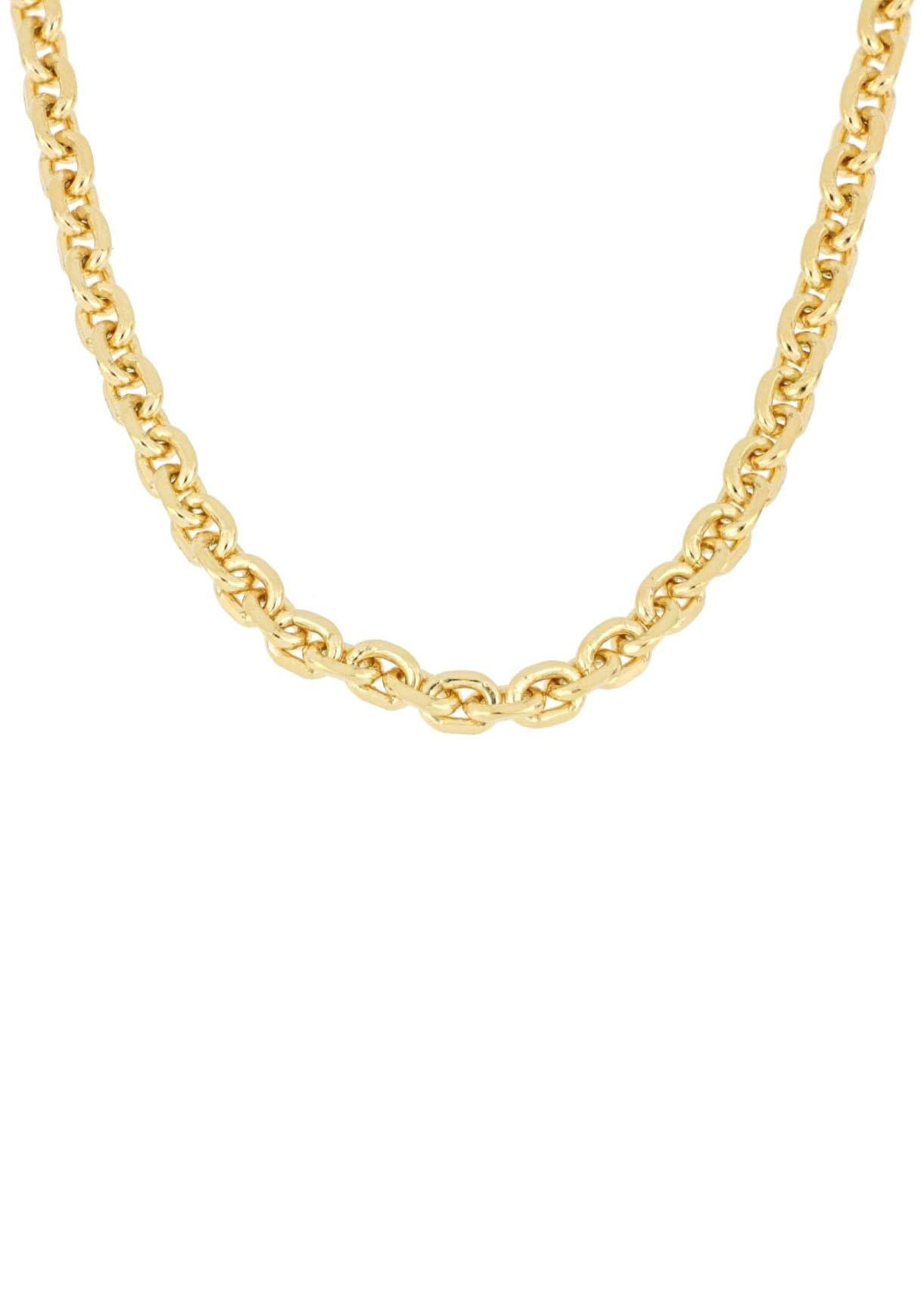 Firetti Gliederkette Ankerkettengliederung 4-fach diamantiert | Schmuck > Halsketten | Goldfarben | Firetti