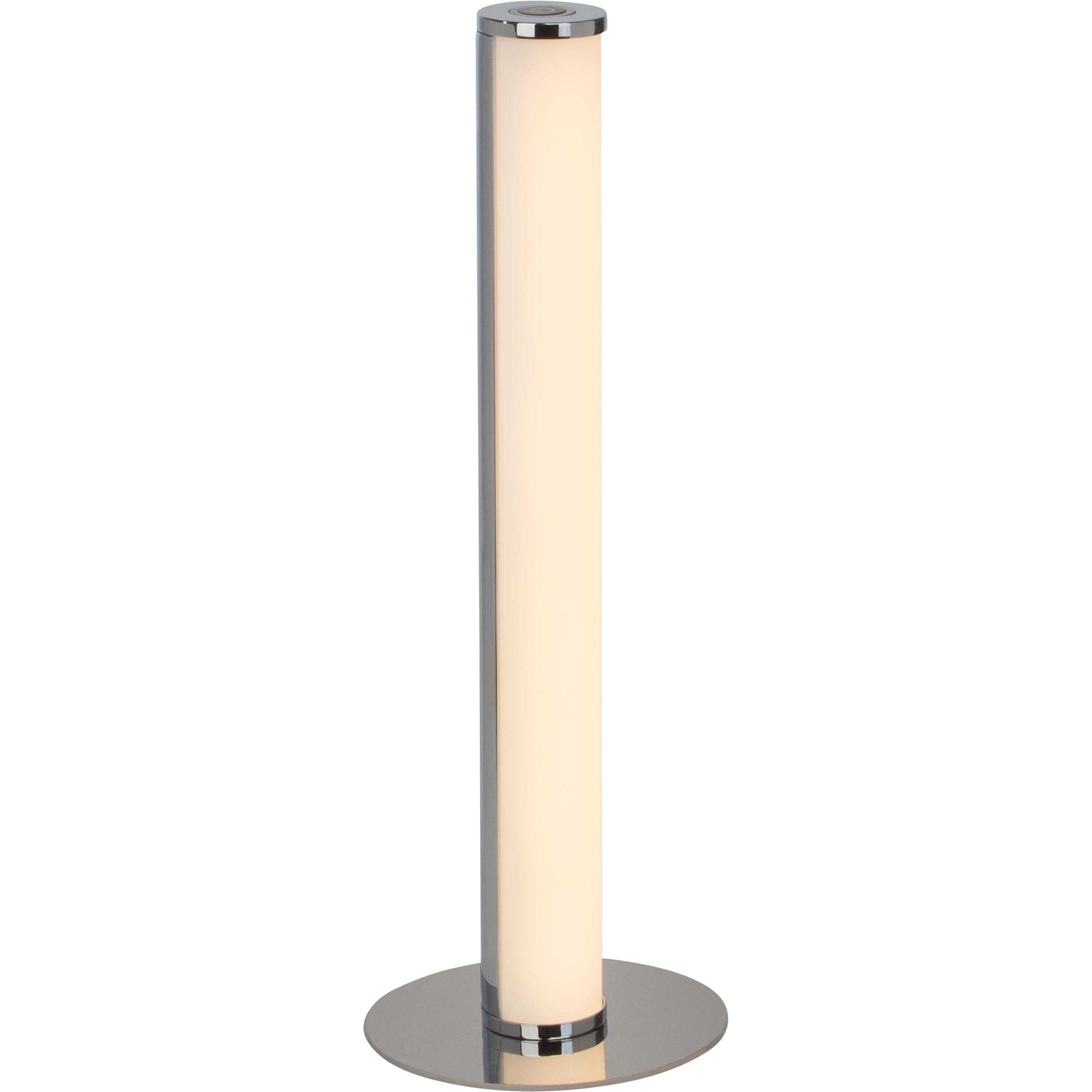 Brilliant Leuchten Tube LED Tischleuchte chrom/weiß | Lampen > Tischleuchten > Beistelltischlampen | Weiß | Metall - Kunststoff | BRILLIANT LEUCHTEN