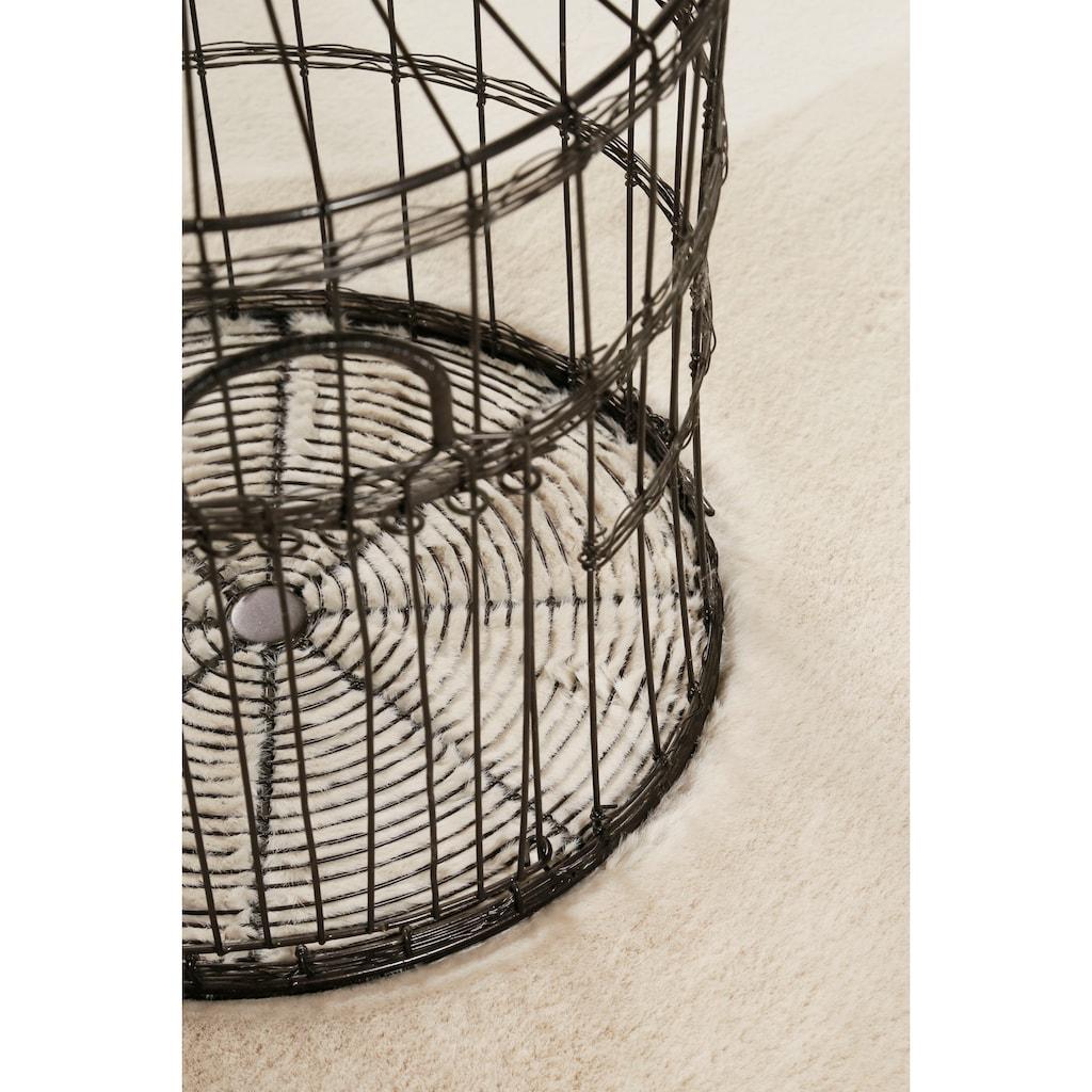 Esprit Hochflor-Teppich »Alice«, rund, 25 mm Höhe, Kunstfell, Kaninchenfell-Haptik, Wohnzimmer