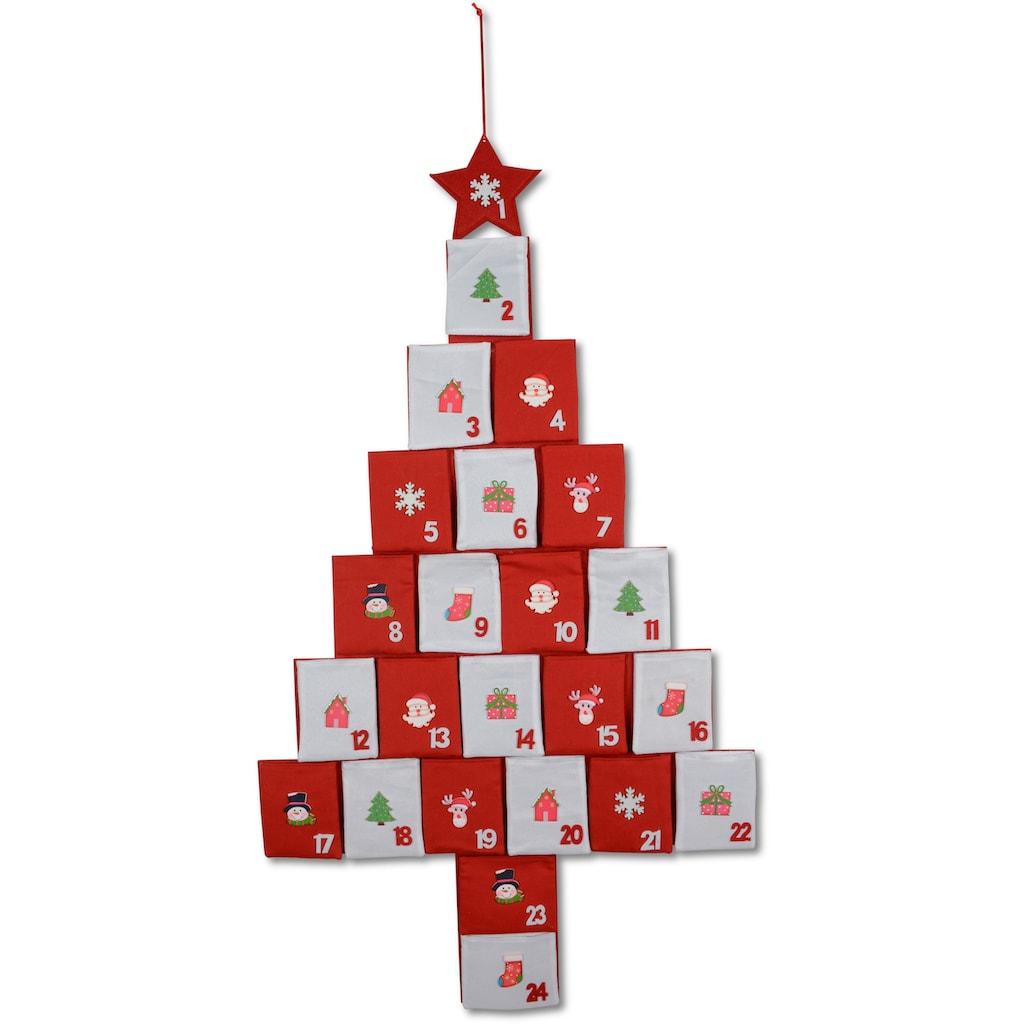 befüllbarer Adventskalender »Baum«, mit Holzornamenten