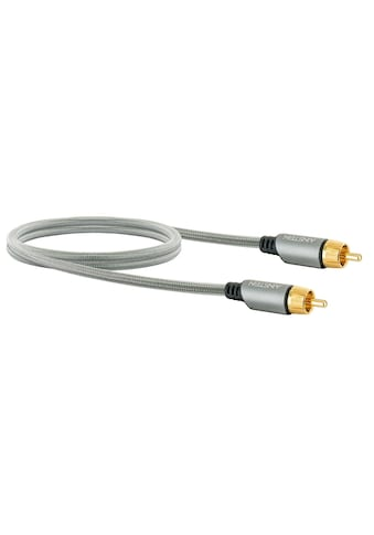 Schwaiger HiFi Chinch Audio-Kabel, Subwoofer-Kabel, vergoldete Stecker »mit Knickschutz« kaufen