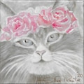 queence Kissenhülle »Cat with Flowers«, (1 St.)