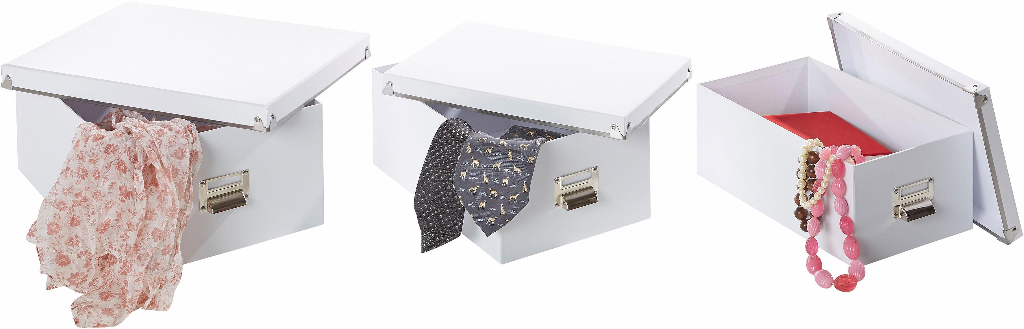 Zeller Present Aufbewahrungsbox, (5-tlg.) weiß Kleideraufbewahrung Aufbewahrung Ordnung Wohnaccessoires Aufbewahrungsbox