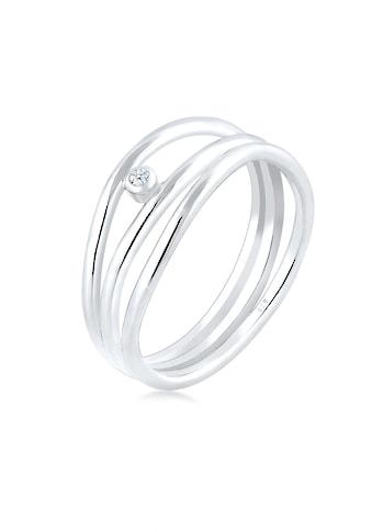 Elli Diamantring »Wickelring Asymmetrisch Diamant (0.02ct.) Silber« kaufen