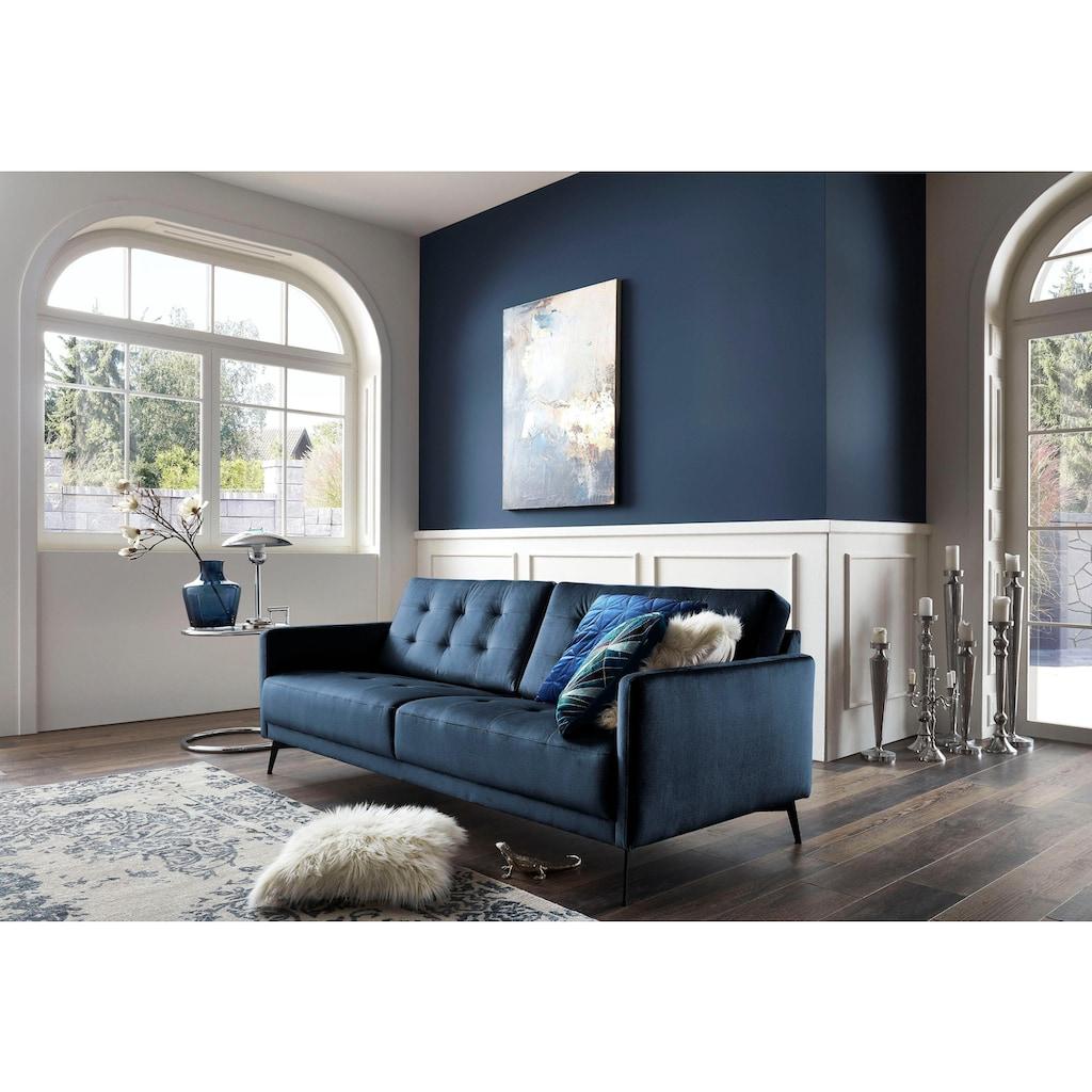 Leonique 3-Sitzer »Esterel«, mit raffinierter Steppung im Rücken und schmalen Metallfüßen, in modernen Farben