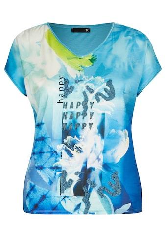 Thomas Rabe Kurzarmshirt, mit abstraktem Allover-Muster und Capärmeln kaufen