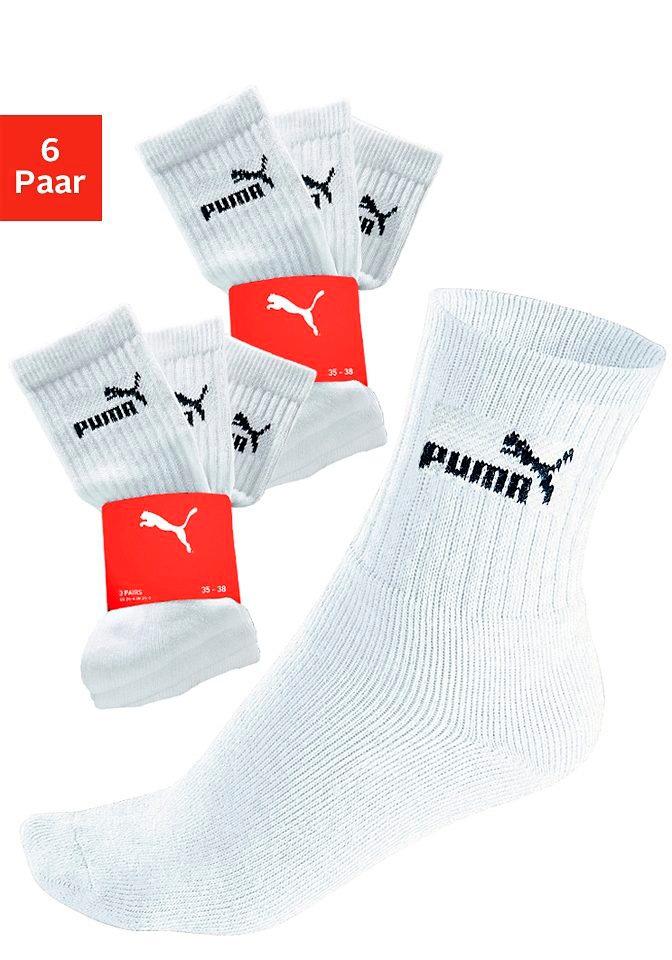 PUMA Sportsocken (6 Paar) weiß Damen Multipacks Herrenwäsche Socken
