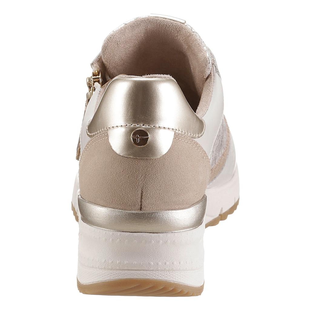 Tamaris Wedgesneaker »Rea«, mit feiner Reptil-Prägung
