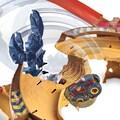 Hot Wheels Autorennbahn »Monster Trucks Skorpion-Beschleuniger«, inkl. 2 Spielzeugautos