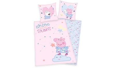 Kinderbettwäsche »Peppa Pig / Peppa Wutz«, mit tollem Peppa Pig-Motiv und Schriftzug kaufen