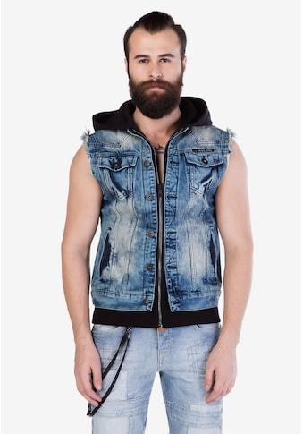 Cipo & Baxx Jeansweste, mit praktischer Kapuze kaufen
