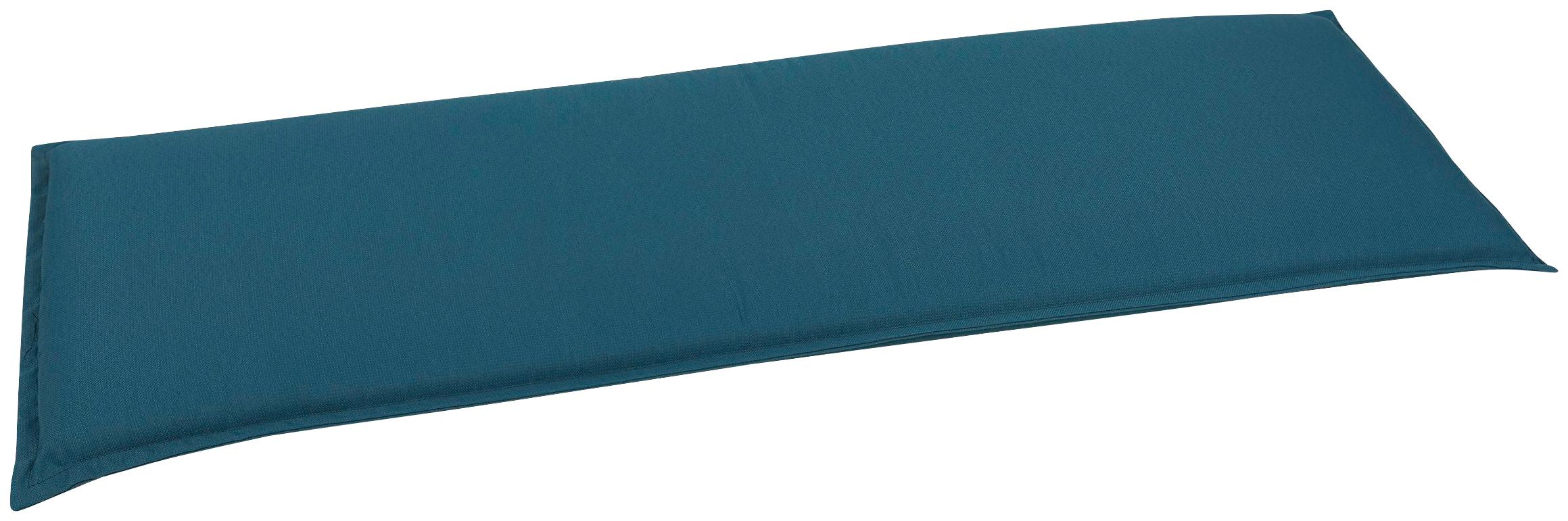 GO-DE Bankauflage, 3 Sitzer blau Bankauflagen Gartenmöbel-Auflagen Gartenmöbel Gartendeko Bankauflage