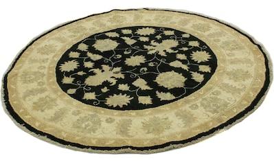 morgenland Wollteppich »Ziegler Teppich handgeknüpft schwarz«, rund, 7 mm Höhe kaufen