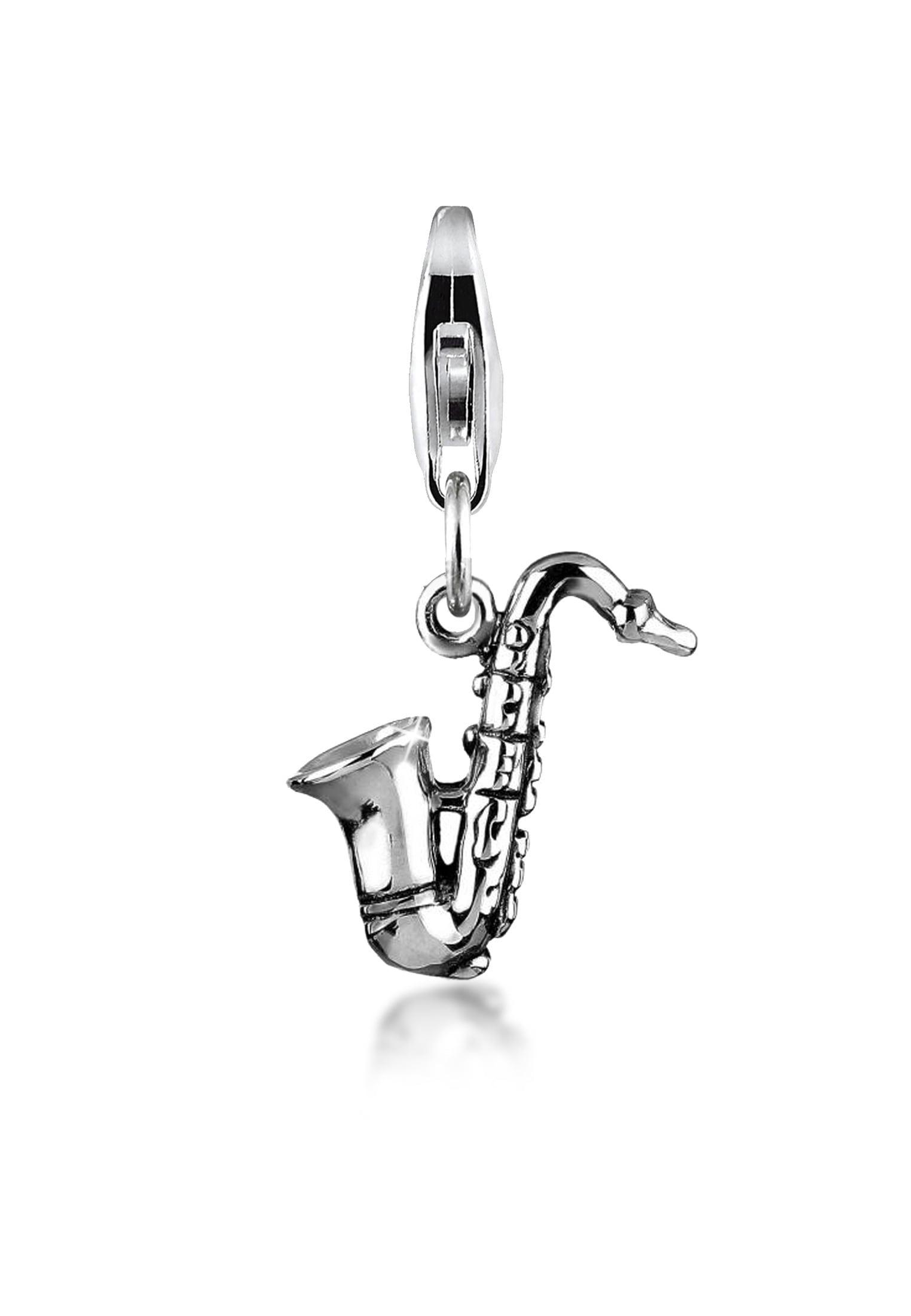 Nenalina Charm-Einhänger Saxophon Symbol Musik Instrument 925 Silber | Schmuck > Charms > Charms Anhänger | Nenalina