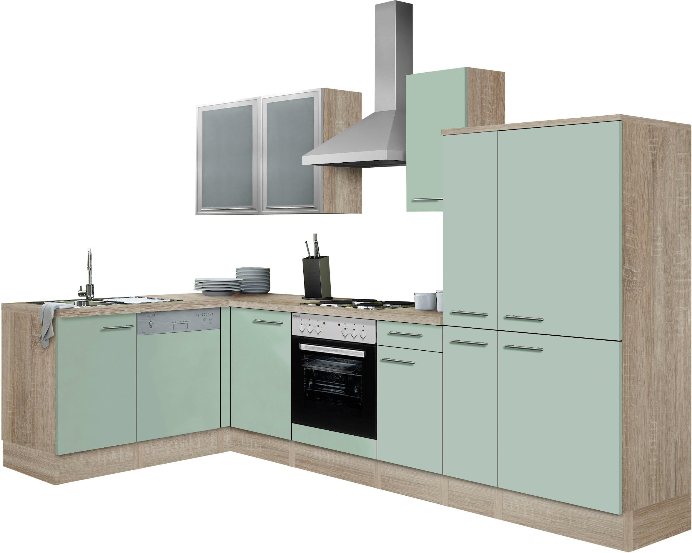 OPTIFIT Winkelküche Kalmar   Küche und Esszimmer > Küchen > Winkelküchen   Grün   Optifit