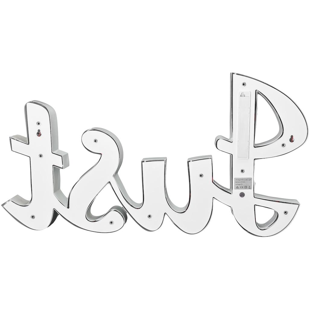 MARQUEE LIGHTS LED Dekolicht »Just Schriftzug«, 1 St., Warmweiß, Wandlampe, Tischlampe Just mit 19 festverbauten LEDs - 57cm Breit und 31cm hoch