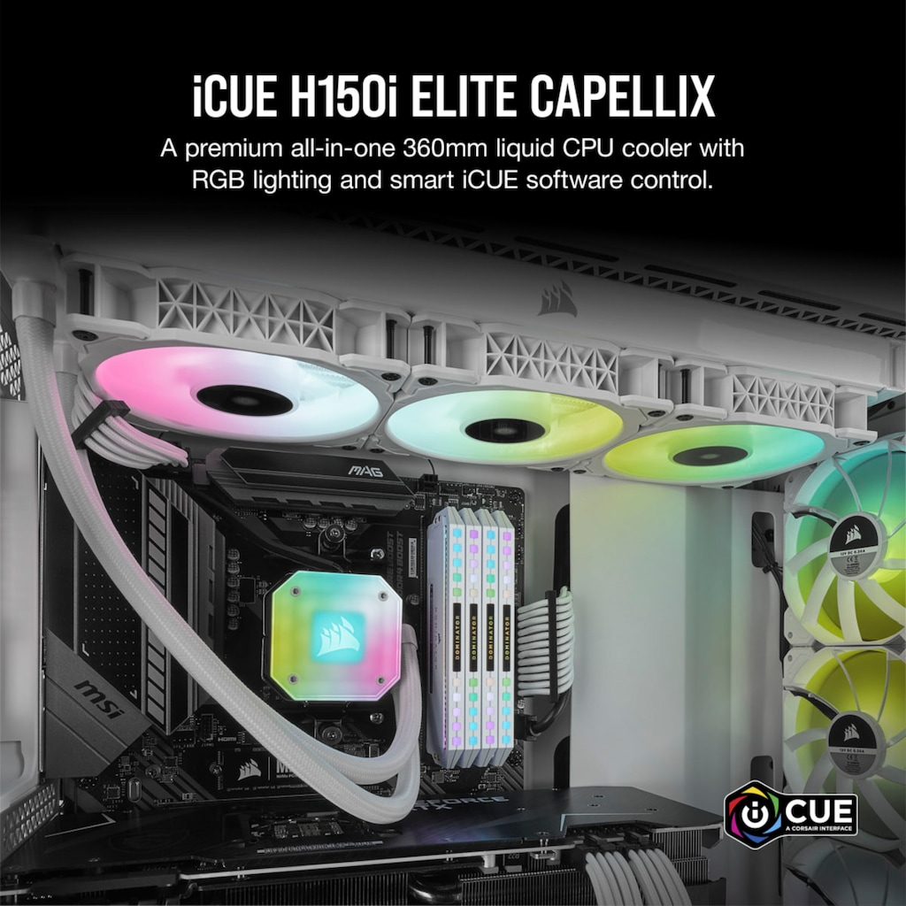 Corsair Wasserkühlung »iCUE H150i ELITE CAPELLIX«