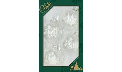 Krebs Glas Lauscha Weihnachtsbaumkugel »CBK83255«, (Set, 4 St.), mit großen Schneeflocken kaufen