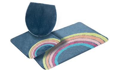 my home Badematte »Regenbogen«, Höhe 12 mm, strapazierfähig, besonders weich durch Microfaser kaufen