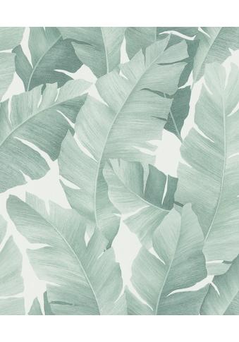 Marburg Vliestapete »weiß-grün«, floral, restlos abziehbar kaufen