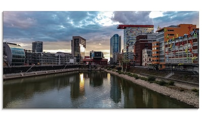 Artland Glasbild »Sonnenuntergang MedienHafen Düsseldorf«, Deutschland, (1 St.) kaufen