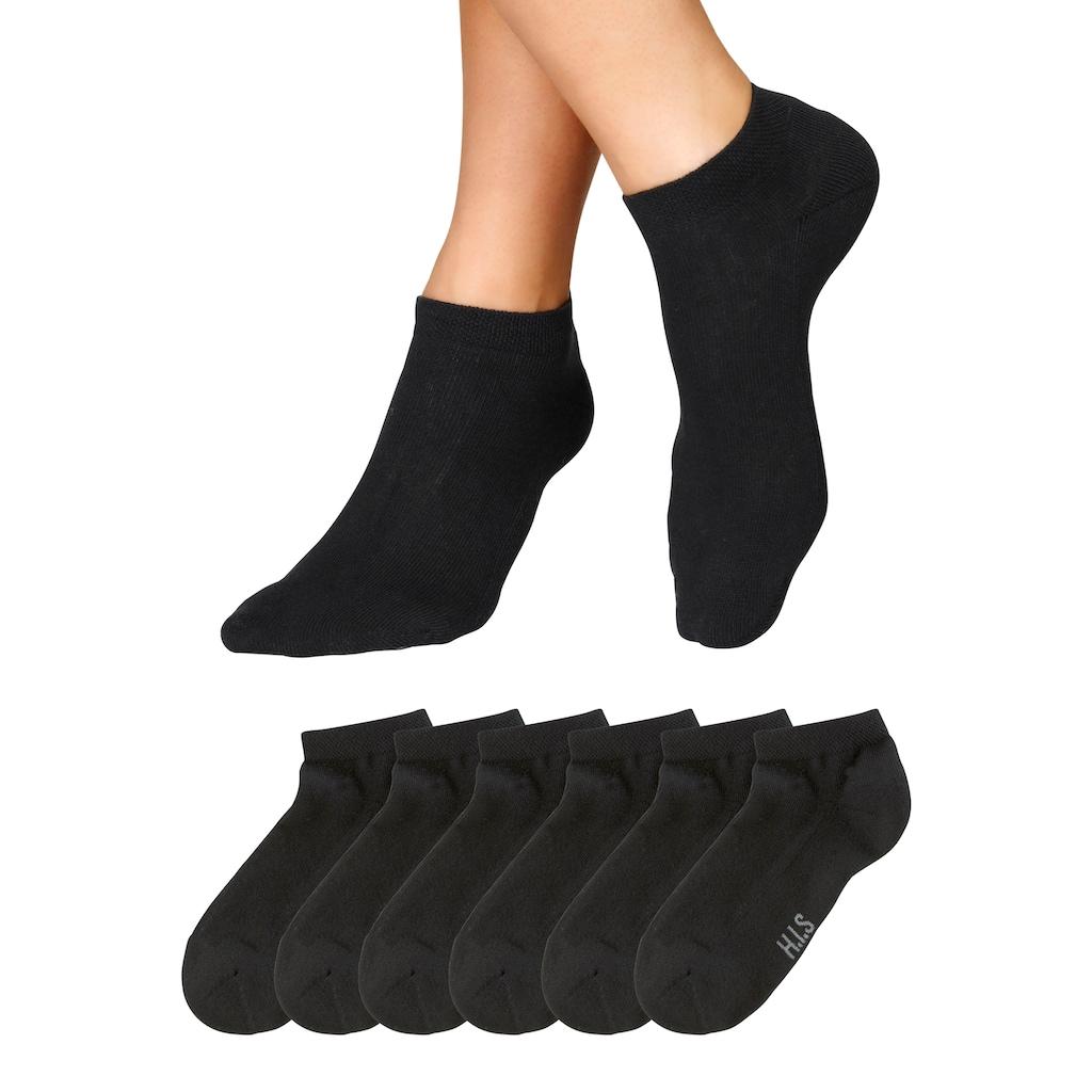 H.I.S Sneakersocken, (6 Paar), mit weicher Frotteesohle