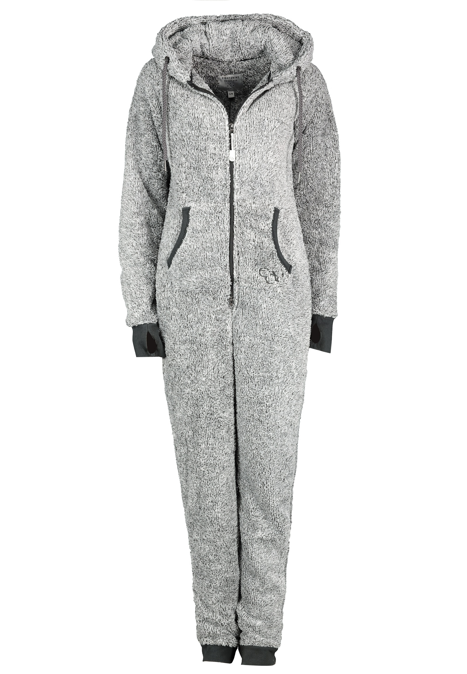 Eight2Nine Overall, aus Fleece grau Damen Overalls H-Typ Figurtyp-Beratung Overall