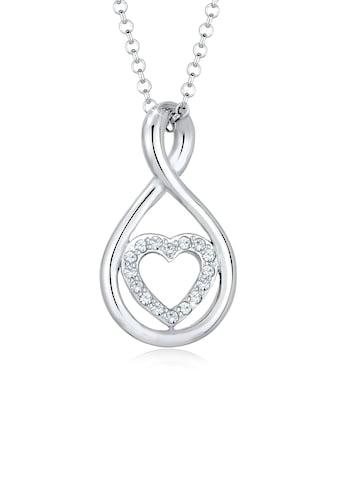 Elli Collierkettchen »Infinity Herz Swarovski® Kristalle 925 Silber« kaufen