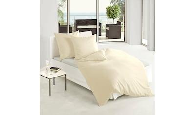 BIERBAUM Bettwäsche »Biber Uni«, in schönen Unitönen kaufen
