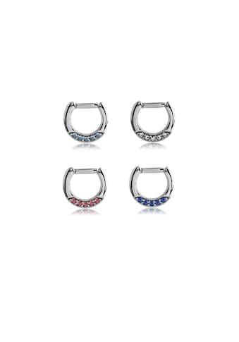 BodyJewel Nasenpiercing-Set »Septumring, Kristallsteine, Chirurgenstahl 316L« kaufen