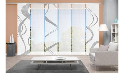 Vision Schiebegardine »TIBANO 6er SET«, Bambus-Optik, Digital bedruckt kaufen