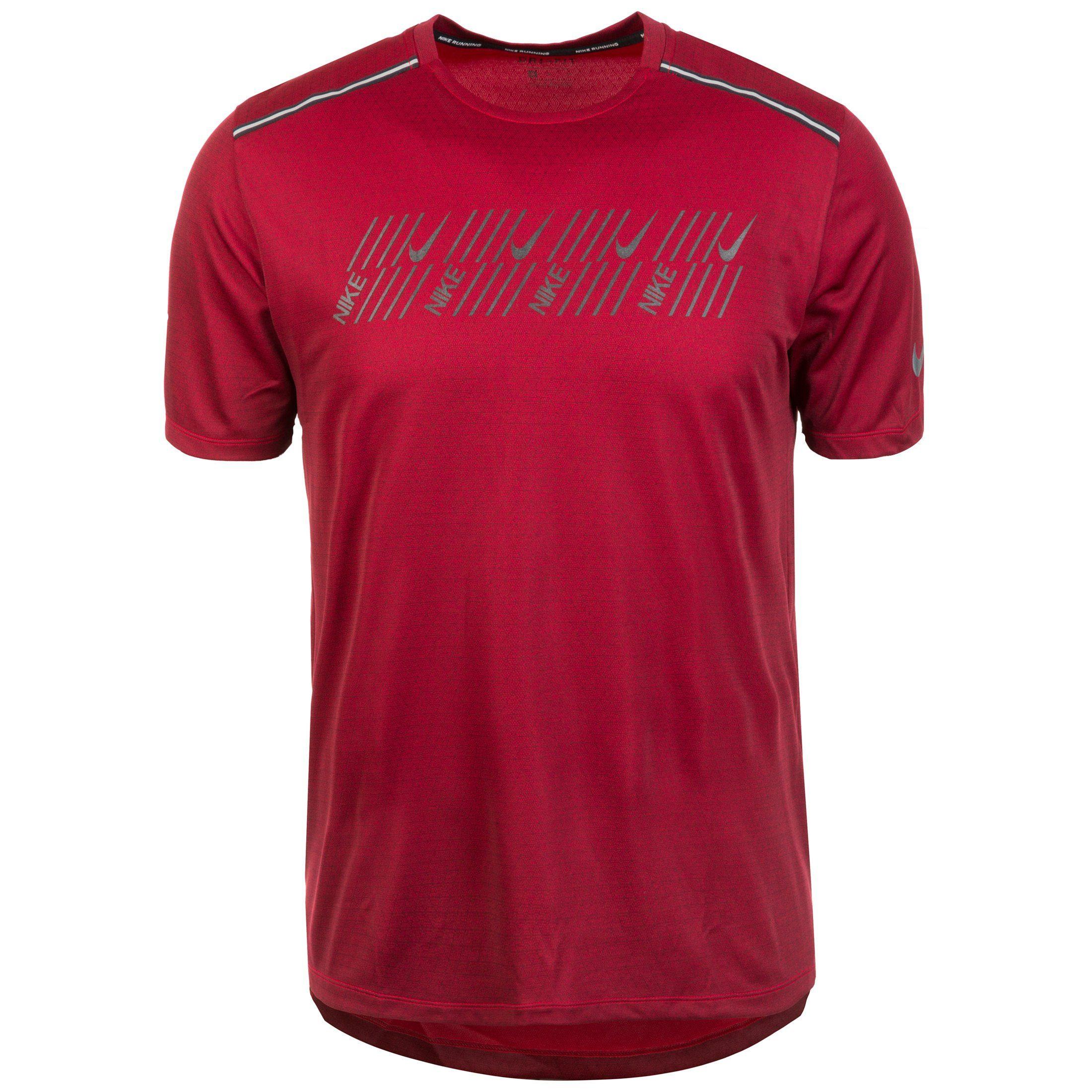 Nike Laufshirt Dri-fit Miler Tech Capsule   Sportbekleidung > Sportshirts > Laufshirts   Rot   Nike