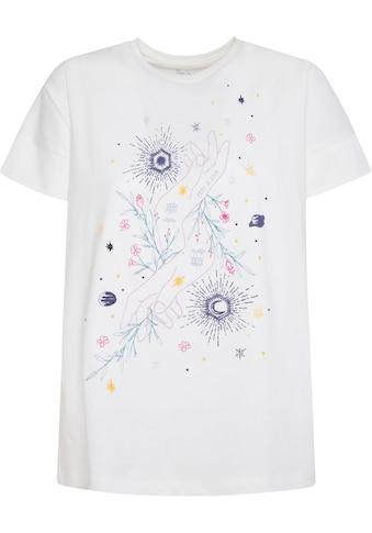 Pepe Jeans Kurzarmshirt »ADALYS«, mit bunten Stickerein kaufen