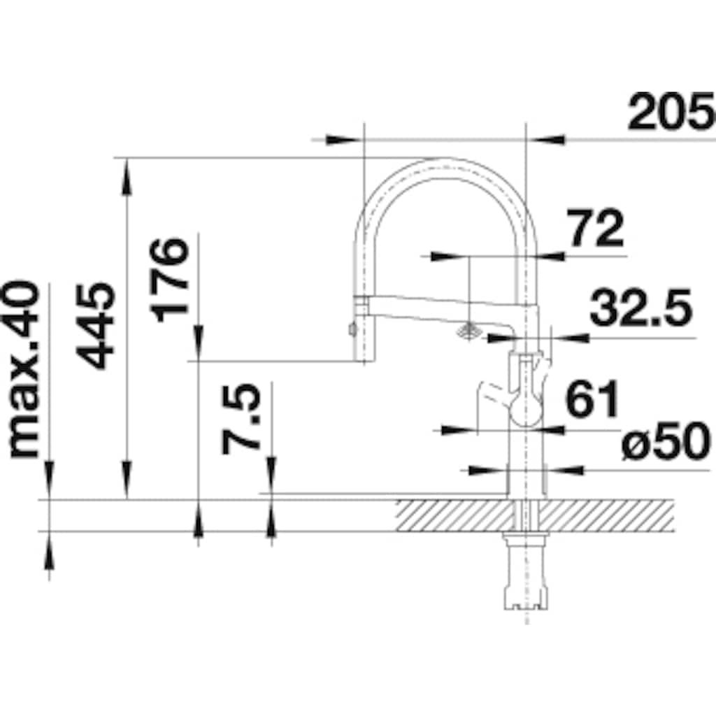 Blanco Küchenarmatur »SOLENTA-S Senso Hebel links«, Hochdruck, mit Sensortechnologie