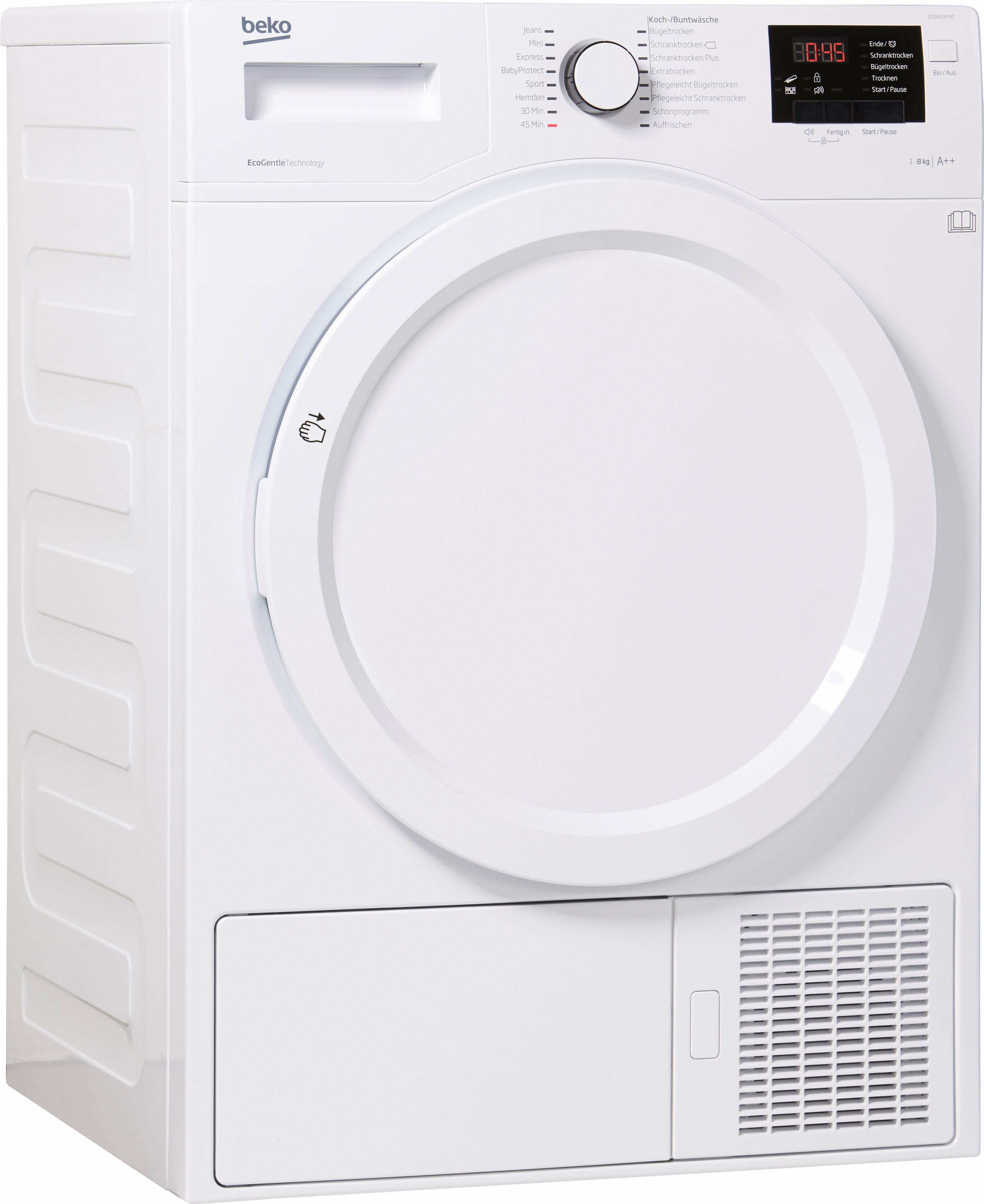 BEKO Wärmepumpentrockner DS 8433 PA0 8 kg | Bad > Waschmaschinen und Trockner | Weiß | Beko