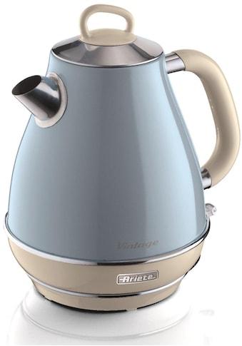 Ariete Wasserkocher, Vintage 2869 blau, 1,7 Liter, 2200 Watt kaufen