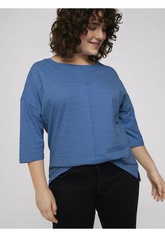 TOM TAILOR MY TRUE ME 3/4-Arm-Shirt »Curvy - T-Shirt mit Bio-Baumwolle« kaufen