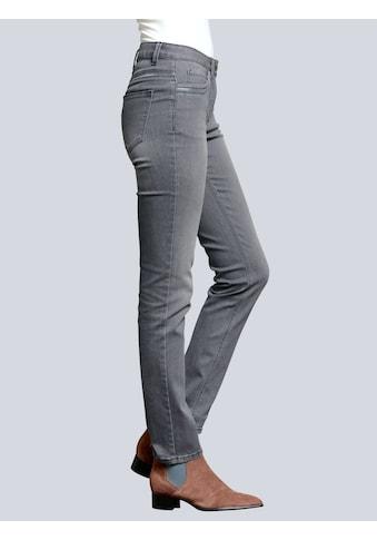 Alba Moda Jeans mit dekorativem Paillettenband kaufen