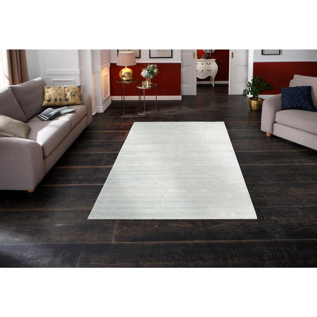Home affaire Teppich »Roja«, rechteckig, 12 mm Höhe, Teppich in Seidenoptik