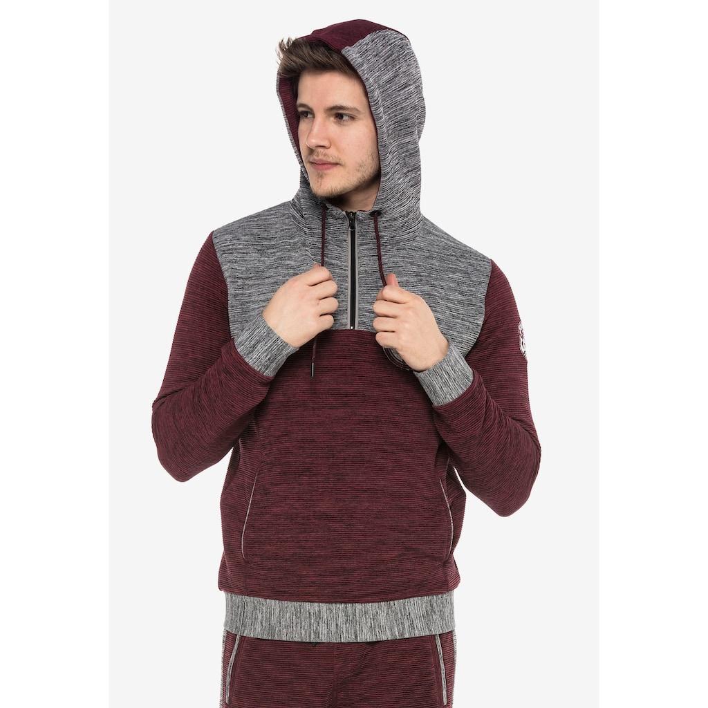 Cipo & Baxx Kapuzensweatshirt, in zweifarbigem Design