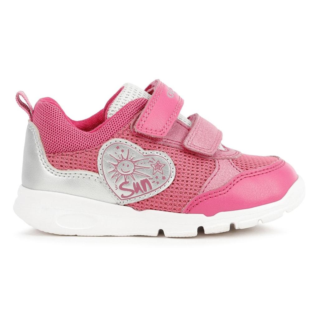Geox Kids Sneaker »B RUNNER GIRL C«, mit Ferseneinsatz im Metallic Look